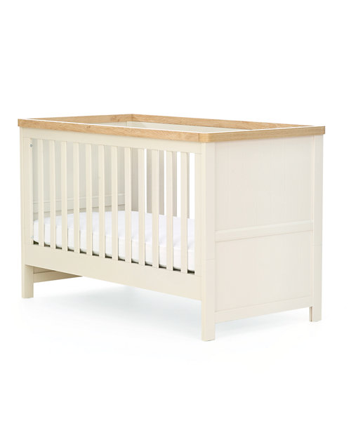 Mothercare Lulworth Cot Bed - White Pepper