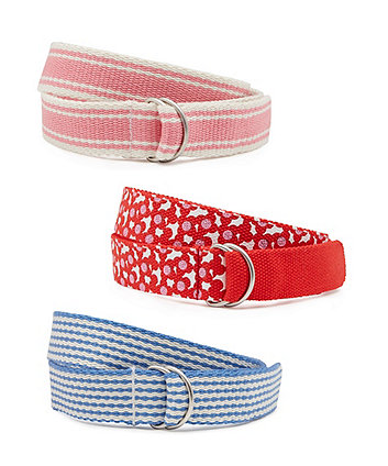 Mothercare Girl's Woven Belts - 3 Pack size 9-10 years