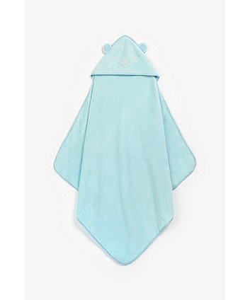 Bear Luxury Cuddle n Dry Hooded Towel - Blue