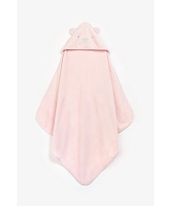 Mothercare Bear Luxury Cuddle n Dry - Pink