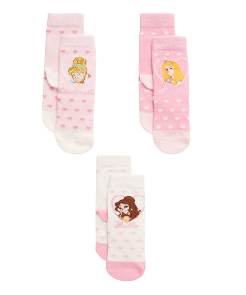 Mothercare Disney Princess Socks - 3 Pack Size 0-3months