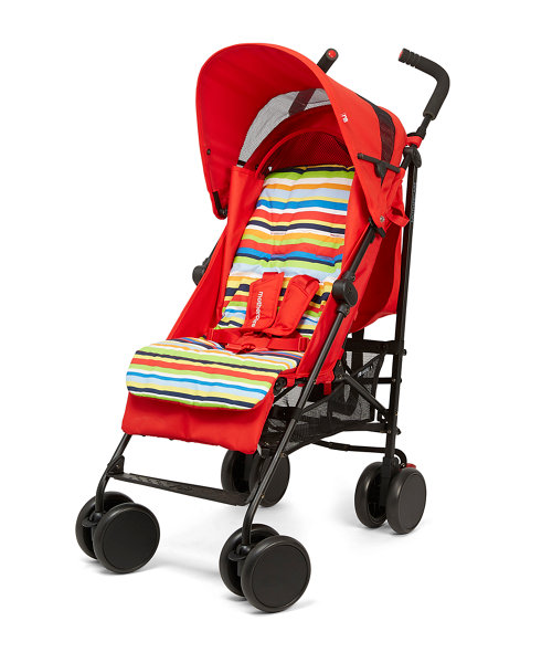 Mothercare Nanu Plus Stroller- Red Stripe