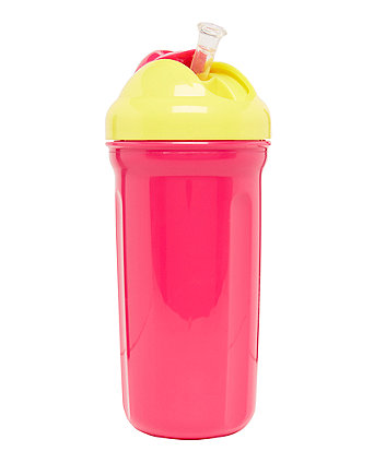 Mothercare Insulated Straw Cup - Pink 320ml