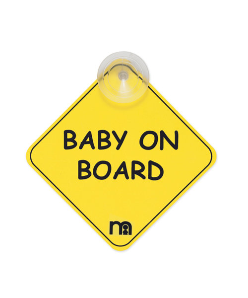 Mothercare Baby On Board Sign