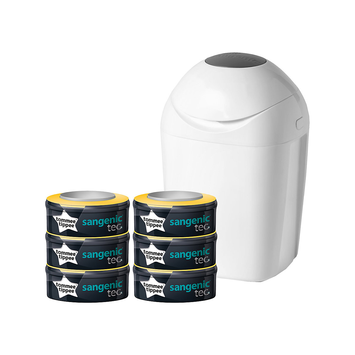 tommee tippee sangenic nappy disposal system find it for less. Black Bedroom Furniture Sets. Home Design Ideas