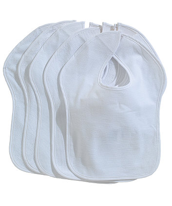 Mothercare Toddler Bibs - White
