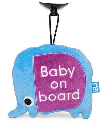 Mothercare Elephant Baby On Board Sign