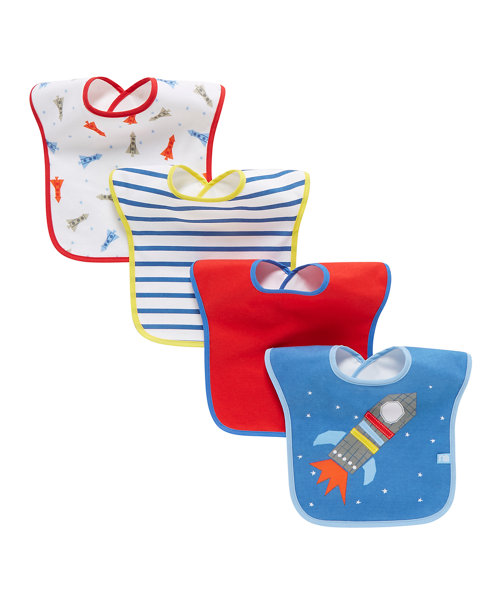 Mothercare Space Bibs - 4 Pack