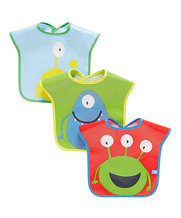 Mothercare Monster Bib - 3 Pack