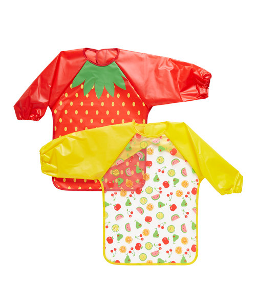 Mothercare Fruit Coverall Bibs - 2 Pack