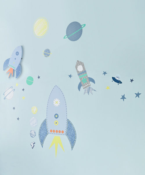 Space Dreamer Wall Stickers