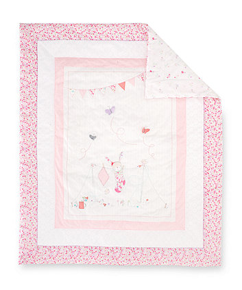 Mothercare My Little Garden Cot Bed Quilt