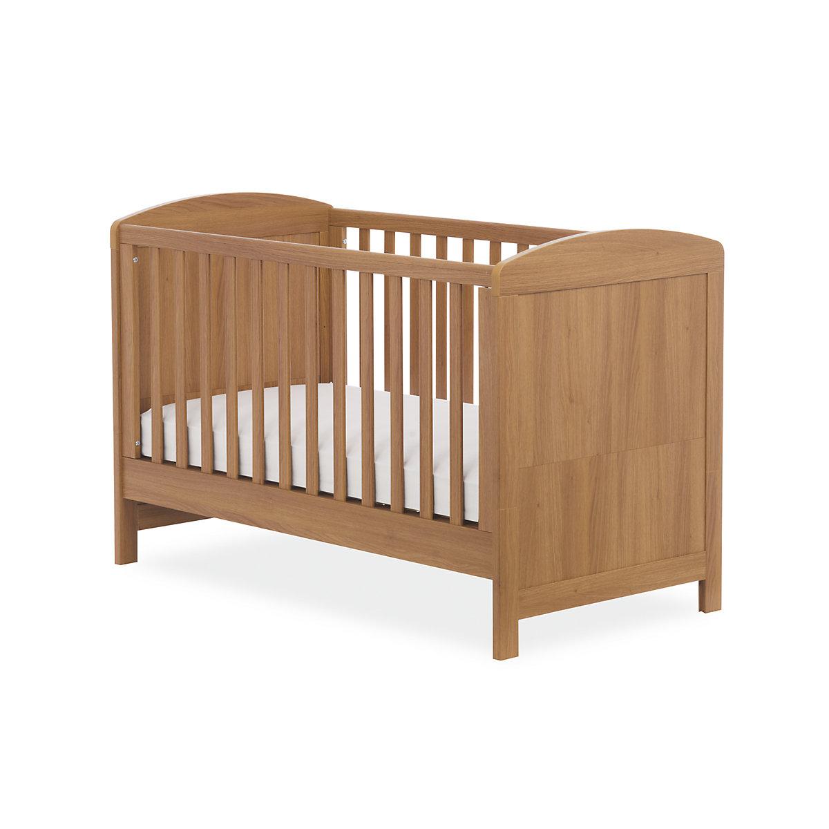 Travel Cot Mattress Tesco: Mothercare Padstow Cot Bed- Oak Effect