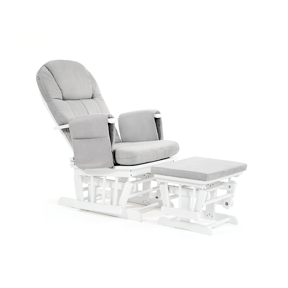 Mothercare Baby Nursery Reclining Glider Chair White With Grey Cushion EBay