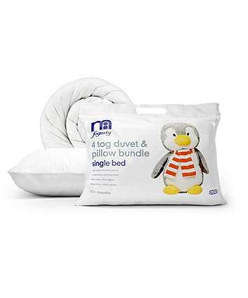 Mothercare by Fogarty Single Bed Duvet and Pillow Set - 4.0 tog