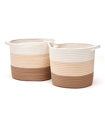 Mothercare Neutral Rope Storage Baskets - Cream 2 Pack