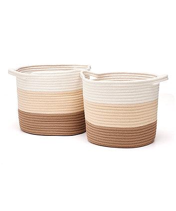 Neutral Rope Storage Baskets - 2 Pack