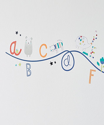 Mothercare Alphabet Brights Wall Stickers