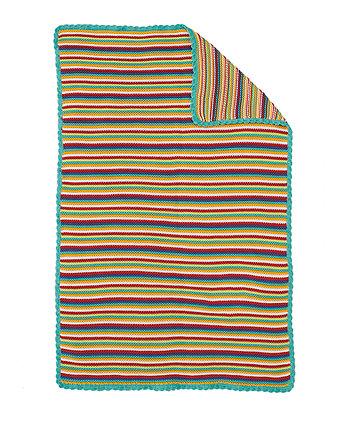 Alphabet Brights Knitted Blanket