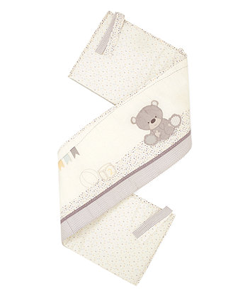 Mothercare Teddy's Toy Box Short Bumper - Cream