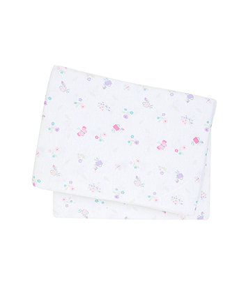 Mothercare My Little Garden Fitted Cotbed Sheets - 2 Pack