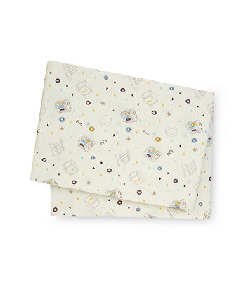Teddy's Toy Box Fitted Cotbed Sheets - 2 Pack