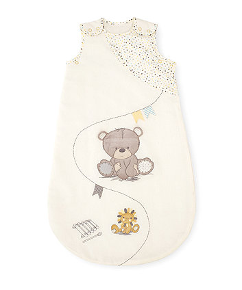 Mothercare Snoozie Teddy's Toy Box Sleep Bag 0-6 months - 1 Tog