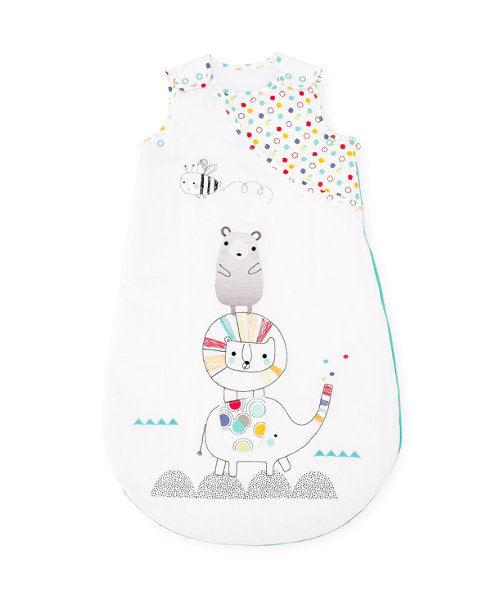 Mothercare Snoozie Alphabet Brights Sleep Bag 0-6 months - 1 Tog