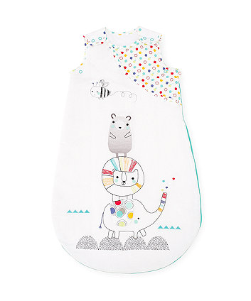 Mothercare Snoozie Alphabet Brights Sleep Bag 0-6 months - 1 Tog