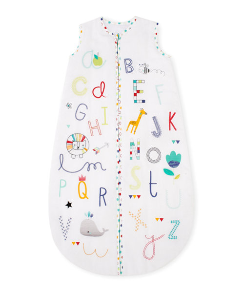 Mothercare Snoozie Alphabet Brights Sleep Bag 6-18 months - 1 Tog