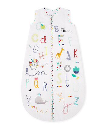 Mothercare Snoozie Alphabet Brights Sleep Bag 6-18 months - 1 Tog