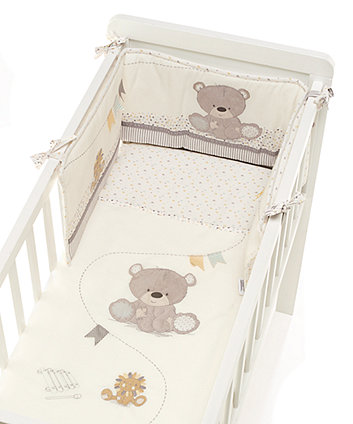 Mothercare Teddy's Toy Box Crib Bale - Cream