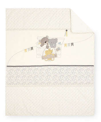 Mothercare Teddy'S Toy Box Cot/ Cot Bed Coverlet