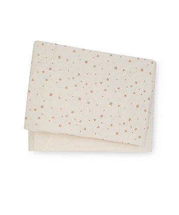 Mothercare Jersey Fitted Cot Sheets - 2 Pack Stars Cream