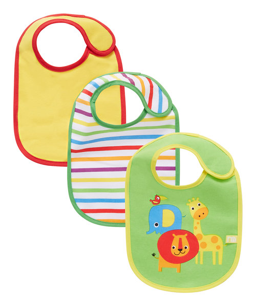 Mothercare Safari Bibs - 3 Pack