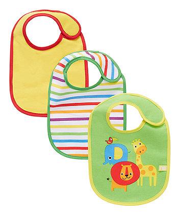 Mothercare Safari Bibs - 3 Pack