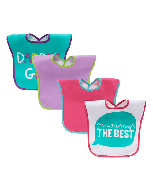 Mothercare Mummy and Daddy Bibs - 4 Pack