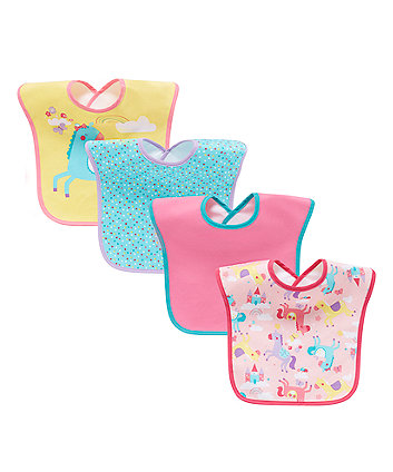 Mothercare Fairyland Bibs - 4 Pack