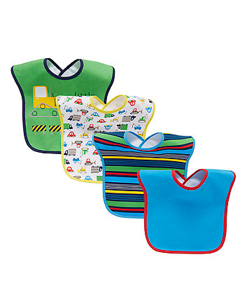 Mothercare Transport  Bibs - 4 Pack