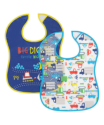 Mothercare Transport Crumbcatcher Bibs - 2 Pack