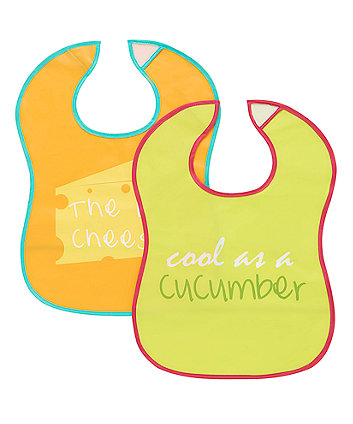 Mothercare Slogan Crumbcatcher Bibs- 2 Pack