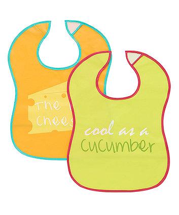 Mothercare Slogan Crumbcatcher Bibs- 2 Pack