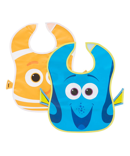 Disney Finding Dory Crumbcatcher Bibs- 2 Pack