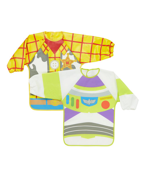 Disney Toy Story Coverall Bibs - 2 Pack