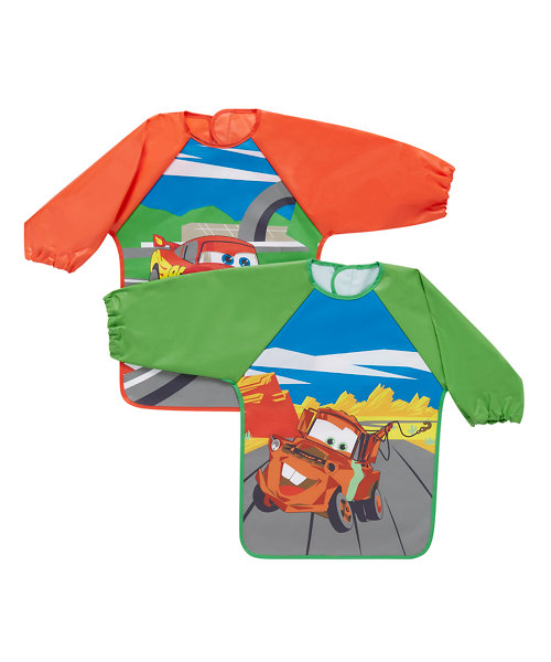 Disney Cars Coverall Bibs - 2 Pack