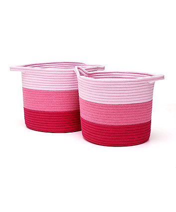 Mothercare Pink Rope Storage Baskets - 2 Pack