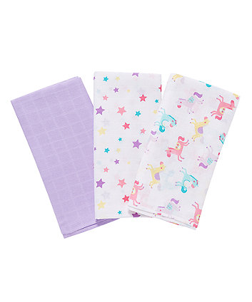 Fairground Extra Large Muslin Cloths - 3 Pack