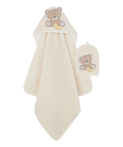 Mothercare Teddy's Toy Box Cuddle 'n Dry Towel and Wash Mitt