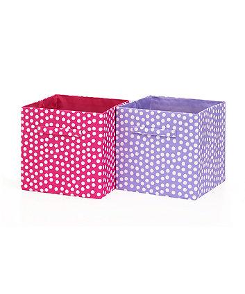 Two Soft Storage Cubes - Pink/Purple