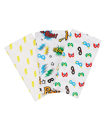 Mothercare Pow Muslins - 3 Pack